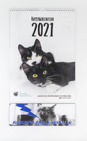 """Tuotepaketti: Kalenteri 2021 plus ovikyltti """"Kulkeminen omalla vastuulla"""""""
