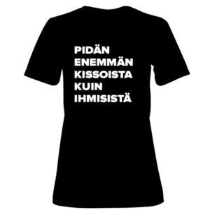Kannatus t-paita: Pidän enemmän kissoista kuin ihmisistä
