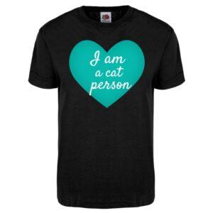 Kannatus t-paita: I am a cat person
